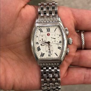 MICHELE watch, *all silver*